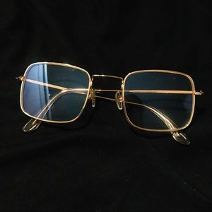 Gold Square Round Clear Glasses